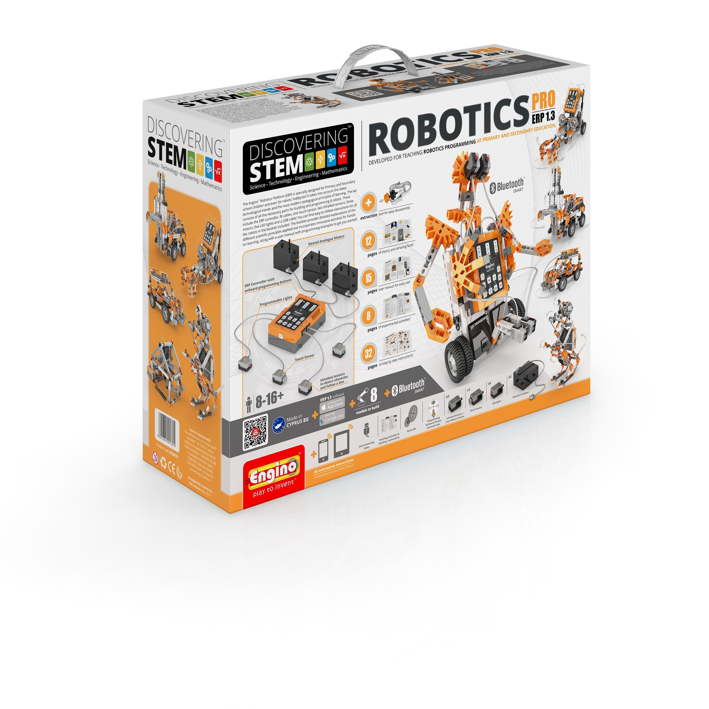 Engino DISCOVERING STEM. ROBOTICS ERP PRO EDITION with BT STEM70